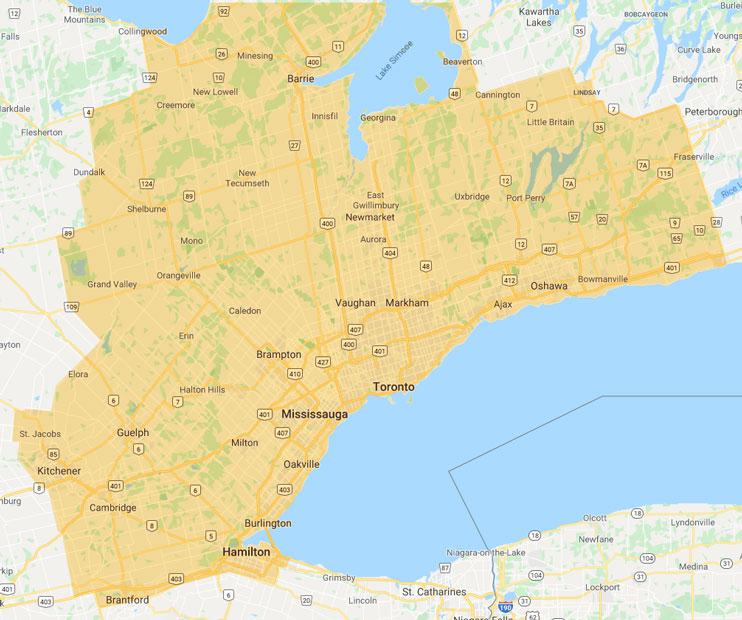Service Area Map 2020